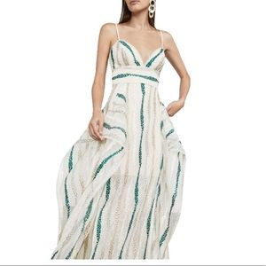 Bcbgmaxazira Combo Liliana Tulle Casual Maxi Dress